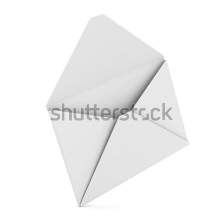 Stock fotó: Email · fehér · izolált · 3D · kép · üzlet