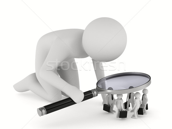 Stock photo: personnel selection on white background. Isolated 3D image