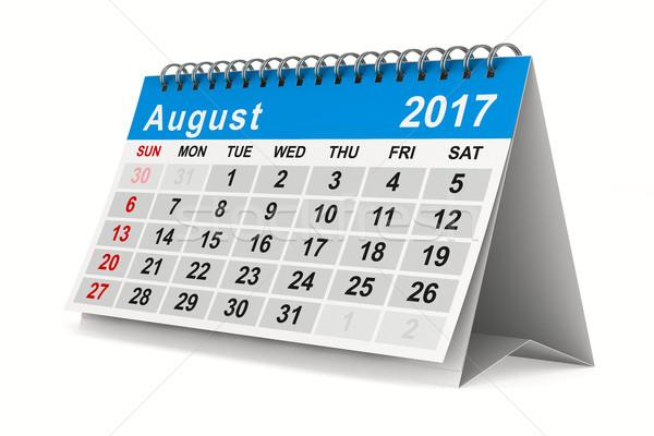 Anno calendario agosto isolato 3D immagine Foto d'archivio © ISerg