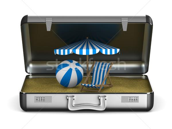 Vacation on the seashore. Isolated 3D illustration Stock photo © ISerg