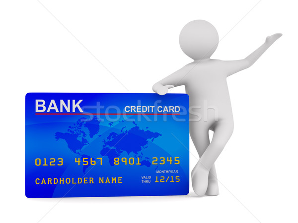 man with credit card. Isolated 3D image Stock photo © ISerg