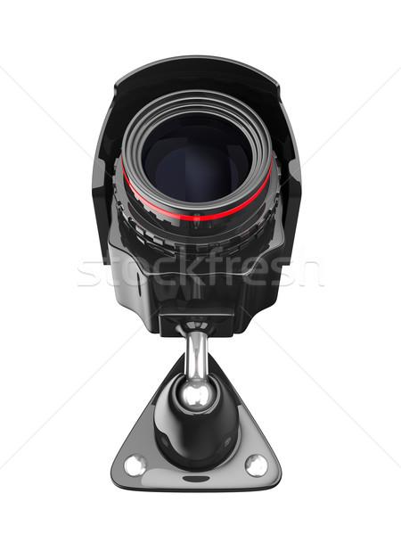 Telecamera di sicurezza bianco isolato 3D immagine tecnologia Foto d'archivio © ISerg