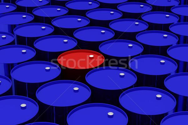 Sötét kék egy piros ÁFA 3D Stock fotó © ISerg