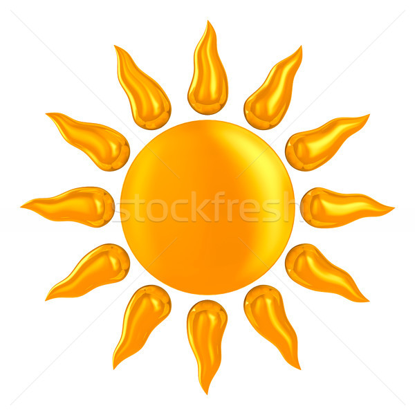 sun on white background. Isolated 3D illustration Stock photo © ISerg