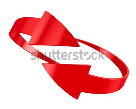 two red arrow on white background. Isolated 3D image Stock photo © ISerg