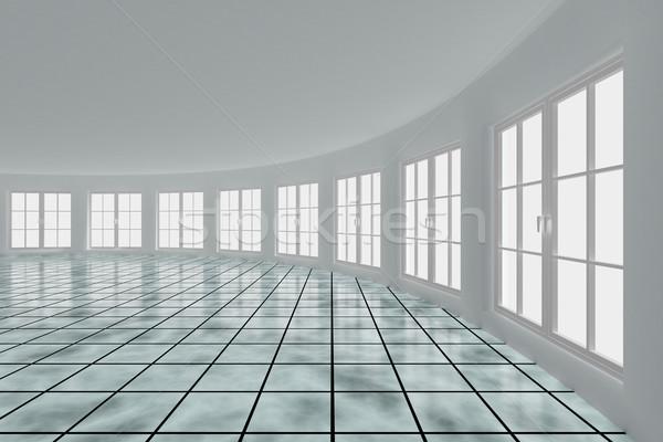 Empty hall with windows. Interior. 3D image Stock photo © ISerg