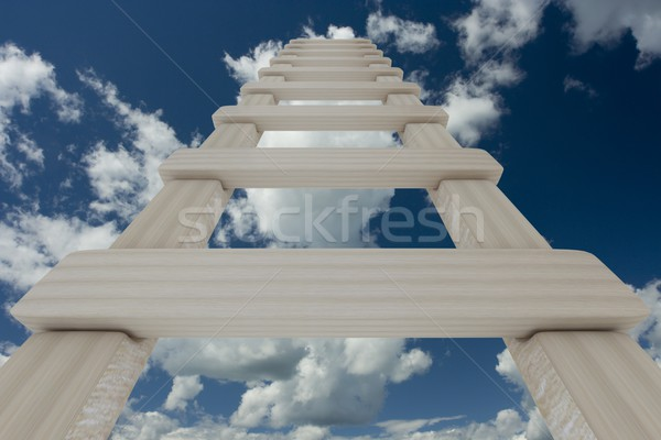 Stair cielo 3D immagine business abstract Foto d'archivio © ISerg