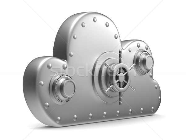 Nuage lock blanche isolé 3D image Photo stock © ISerg
