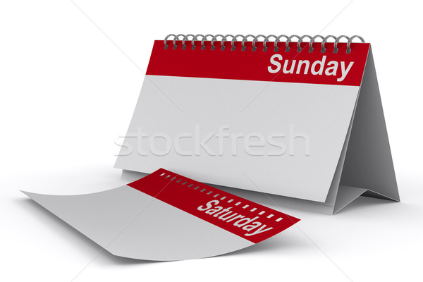 Calendar for sunday on white background. Isolated 3D image Stock photo © ISerg
