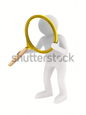 Stock photo: man with money for a white background. Isolated 3D image