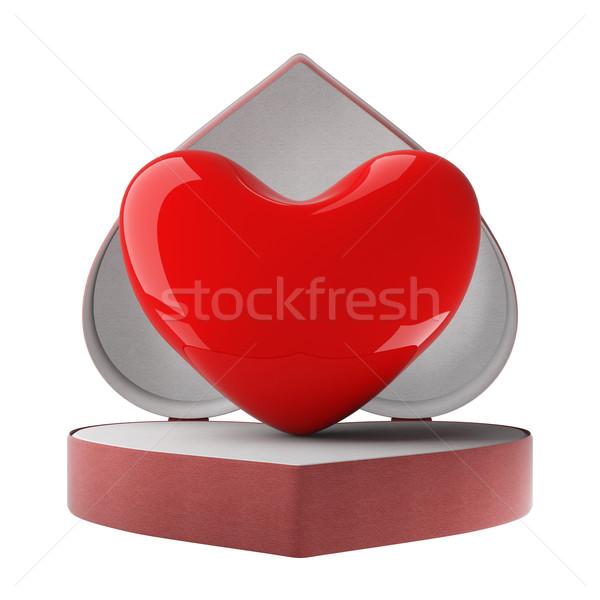 Foto stock: Coração · dom · 3D · imagem · casamento