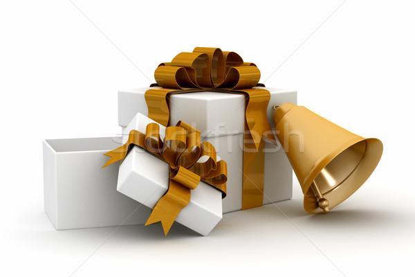 Gift set on a white background. 3D image. Stock photo © ISerg