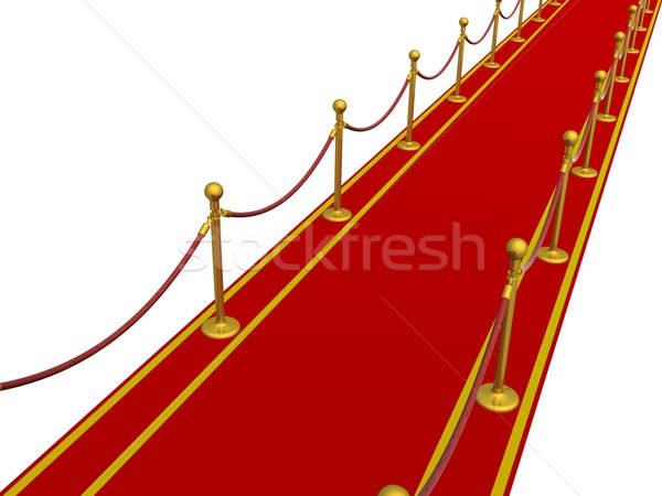 Red carpet. 3D image. Stock photo © ISerg