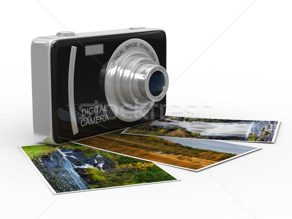 Compatto fotocamera digitale bianco isolato 3D immagine Foto d'archivio © ISerg