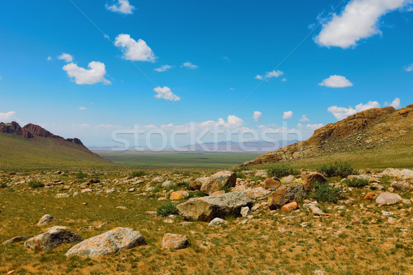 Stock photo: Altai mountains. Beautiful highland landscape. Mongolia