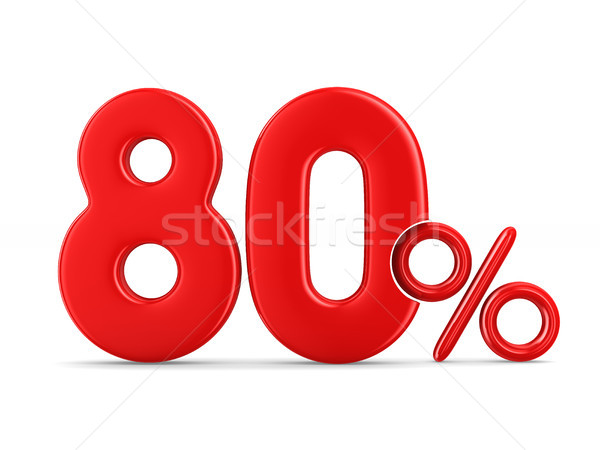 Eighty percent on white background. Isolated 3D illustration Stock photo © ISerg