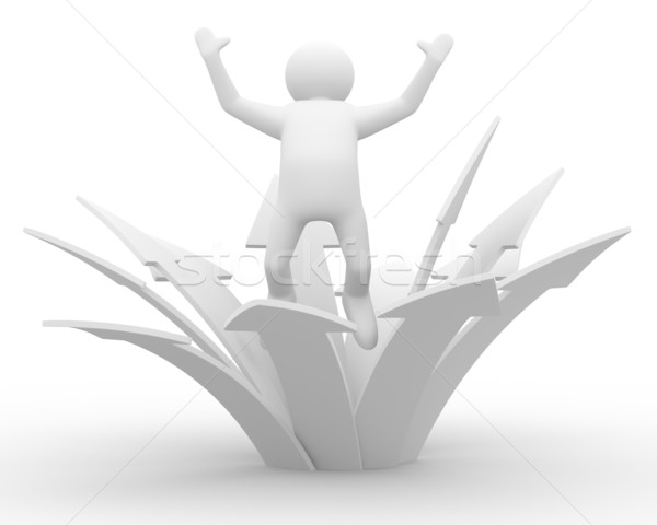 Stock photo: Movement direction to success. Isolated 3D image