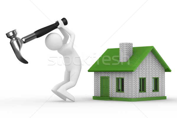 Stock photo: House building on white background. Isolated 3D image
