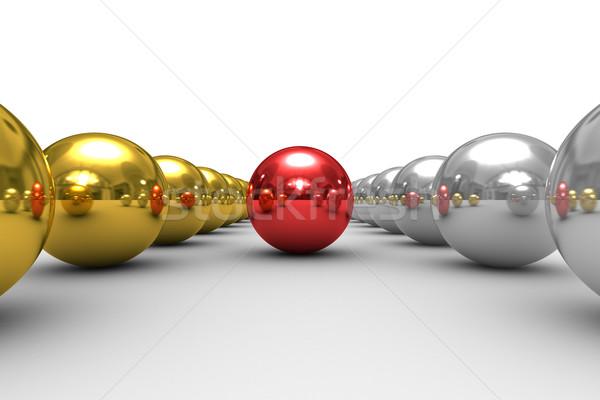 Stockfoto: Leiderschap · witte · geïsoleerd · 3D · afbeelding · abstract