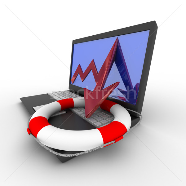 Rescue from financial crisis. Isolated 3D image Stock photo © ISerg
