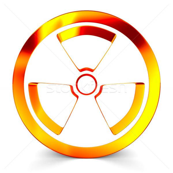 放射線 シンボル 白 孤立した 3D 画像 ストックフォト © ISerg