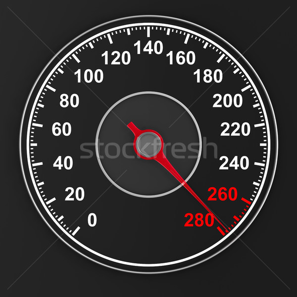 speedometer on black background. 3D illustration Stock photo © ISerg