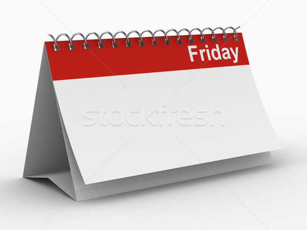 Calendar for friday on white background. Isolated 3D image Stock photo © ISerg
