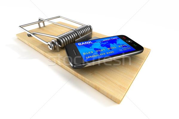 Stok fotoğraf: Telefon · yalıtılmış · 3D · görüntü · iş · hareketli