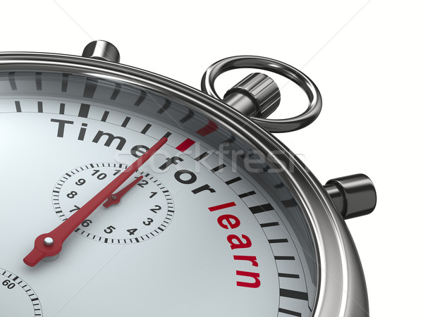 Time for learn. Stopwatch on white background. Isolated 3D image Stock photo © ISerg