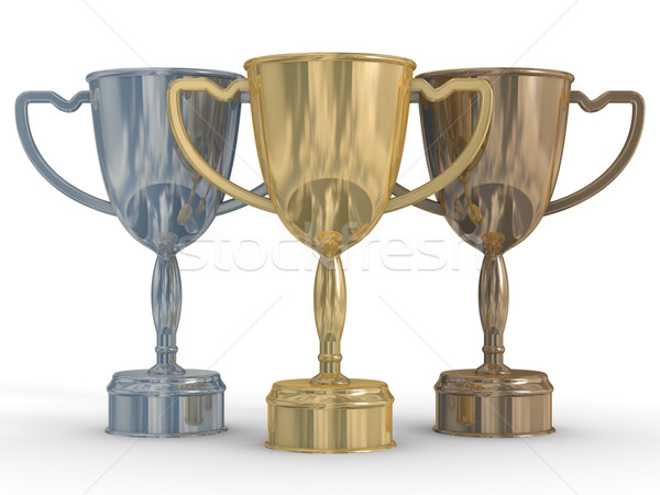 cups of the winner. the 3D  image Stock photo © ISerg