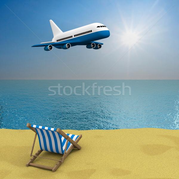 Vakantie 3D afbeelding water zon natuur Stockfoto © ISerg