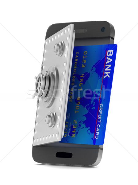 Protection phone on white background. Isolated 3D image Stock photo © ISerg