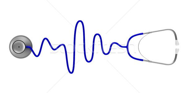 stethoscope on white background. Isolated 3D illustration Stock photo © ISerg