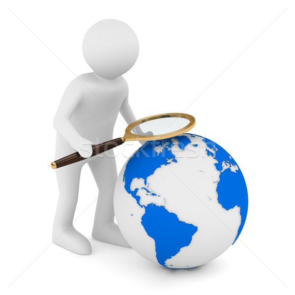 Global search. Isolated 3D image on white Stock photo © ISerg