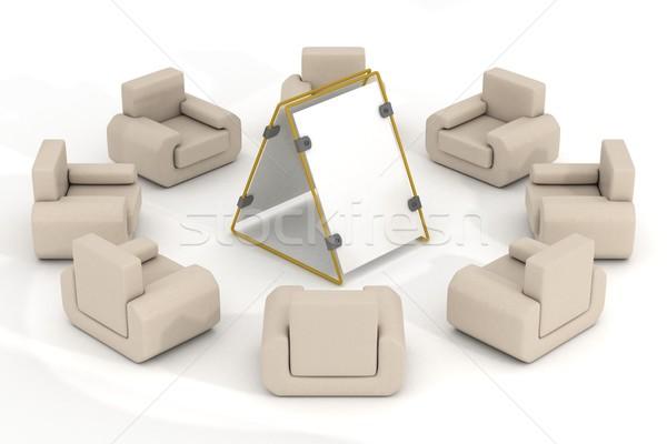 Foto stock: Ocho · alrededor · anunciante · 3D · imagen · negocios