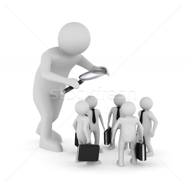 personnel selection on white background. Isolated 3D illustratio Stock photo © ISerg