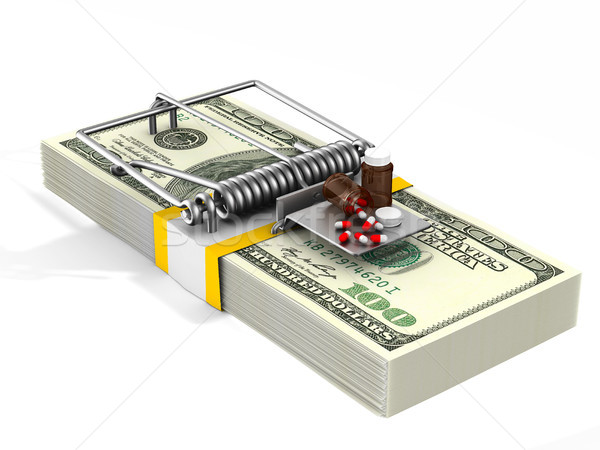 medicaments in mousetrap. Isolated 3D illustration Stock photo © ISerg