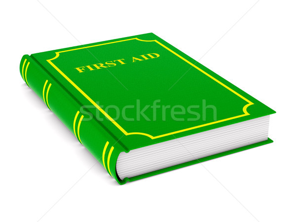 firstaid book on white background. Isolated 3D illustration Stock photo © ISerg