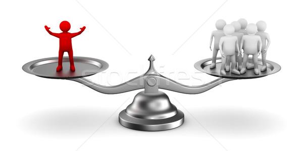 leadership concept on white background. Isolated 3D image Stock photo © ISerg
