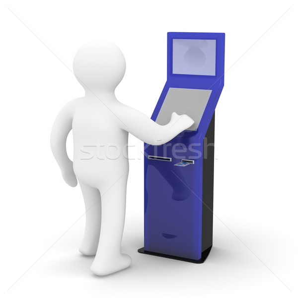 electronic terminal on a white background. Isolated 3D image Stock photo © ISerg