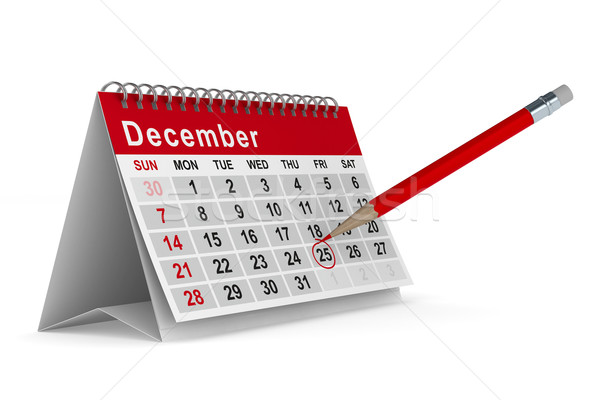 25th December. Isolated 3D image Stock photo © ISerg
