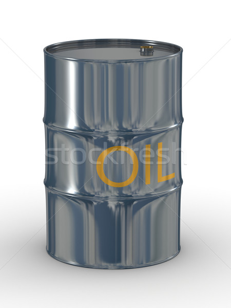 metallic vat on a white background. 3D image. Stock photo © ISerg