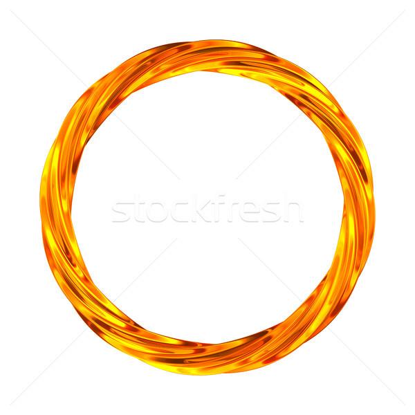 Twisted ring on white background. isolated 3d illustration Stock photo © ISerg