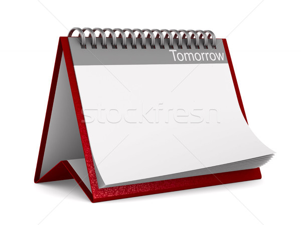 Calendrier demain blanche isolé 3D 3d illustration Photo stock © ISerg
