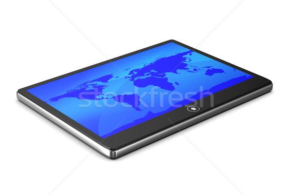 таблетка белый изолированный 3D изображение интернет Сток-фото © ISerg
