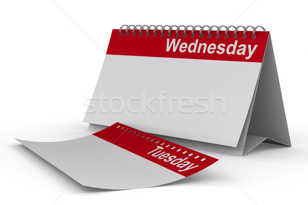 Calendar for wednesday on white background. Isolated 3D image Stock photo © ISerg