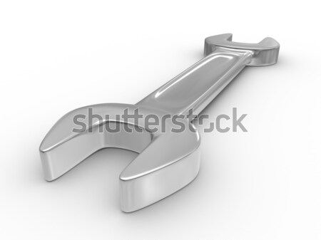 Zdjęcia stock: Klucz · biały · odizolowany · 3D · obraz · działalności