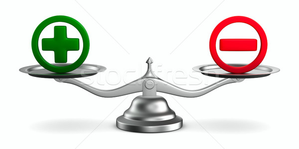 Stock photo: Scales on white background. Isolated 3D image