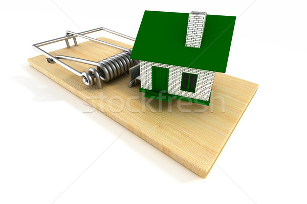 house in mousetrap. Isolated 3D image Stock photo © ISerg