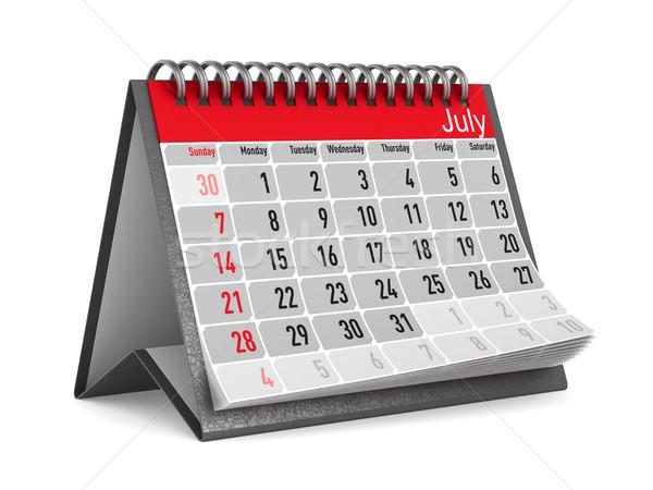 Calendar for July. Isolated 3D illustration Stock photo © ISerg
